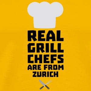Real Grill Chefs are from Zurich Sc57z T-Shirts - Men's Premium T-Shirt