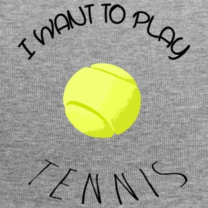 I want to play tennis black Casquettes et bonnets - Bonnet en jersey
