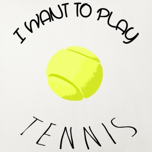 I want to play tennis black Autres - Housse de coussin décorative 44 x 44 cm