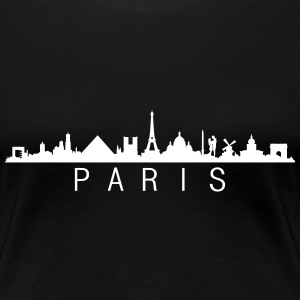 Skyline Paris Name T-Shirts - Frauen Premium T-Shirt