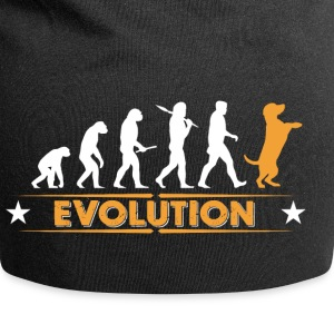 Evolution de Dog - orange/blanc Casquettes et bonnets - Bonnet en jersey