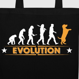 Dog evolution - orange/white Bags & Backpacks - Tote Bag