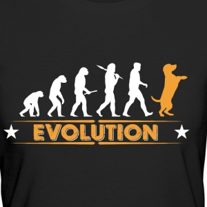 Evolution de Dog - orange/blanc Tee shirts - T-shirt Bio Femme
