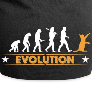 Evolution de chat - orange/blanc Casquettes et bonnets - Bonnet en jersey