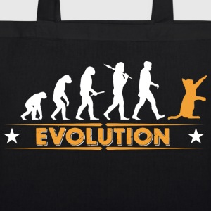 Cat evolution - orange/white Bags & Backpacks - EarthPositive Tote Bag