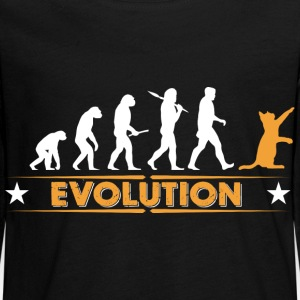 Cat evolution - orange/white Long Sleeve Shirts - Teenagers' Premium Longsleeve Shirt