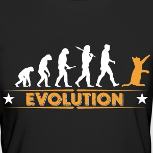 Cat evolution - orange/white T-Shirts - Women's Organic T-shirt