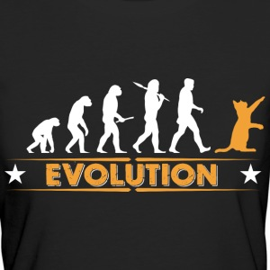 Katze Evolution - orange/weiss T-Shirts - Frauen Bio-T-Shirt