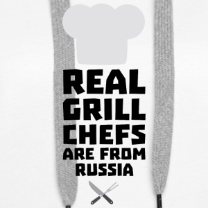 Real Grill Chefs are from Russia S9st3 Hoodies & Sweatshirts - Women's Premium Hoodie