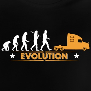 LORRY truck trucker - orange/white Baby Shirts  - Baby T-Shirt