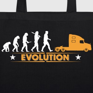 LORRY truck trucker - orange/white Bags & Backpacks - EarthPositive Tote Bag