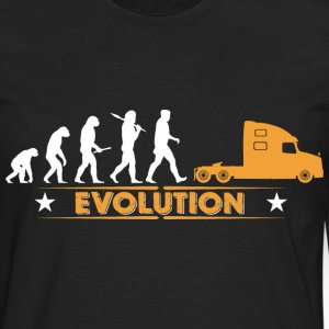 LORRY truck trucker - orange/white Long sleeve shirts - Men's Premium Longsleeve Shirt