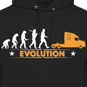 Camionneur de camion camion - orange/blanc Sweat-shirts - Sweat-shirt à capuche unisexe