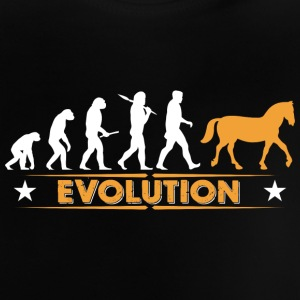 Horse evolution - orange/white Baby Shirts  - Baby T-Shirt