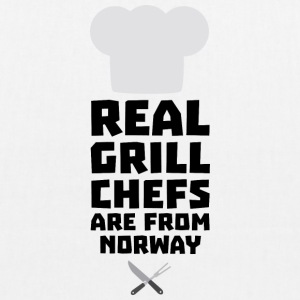 Real Grill Chefs are from Norway S8cv1 Bags & Backpacks - EarthPositive Tote Bag
