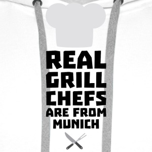Real Grill Chefs are from Munich S955j Hoodies & Sweatshirts - Men's Premium Hoodie