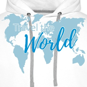 Travel the World 2c Sweat-shirts - Sweat-shirt à capuche Premium pour hommes