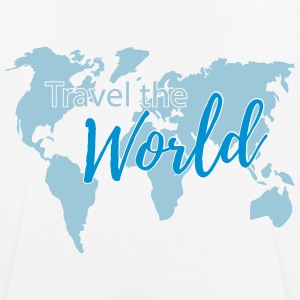 Travel the World 2c T-shirts - mannen T-shirt ademend