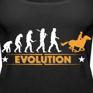 Reiten Evolution - orange/weiss Tops - Frauen Premium Tank Top