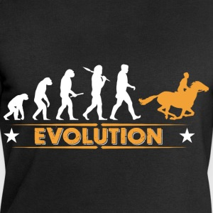 Équitation evolution - orange/blanc Sweat-shirts - Sweat-shirt Homme Stanley & Stella