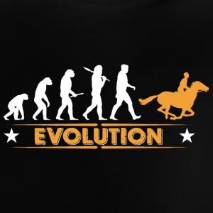 Reiten Evolution - orange/weiss Baby T-Shirts - Baby T-Shirt