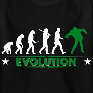 Zombie Evolution - gruen/weiss Shirts - Teenager T-shirt