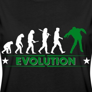 Zombie Evolution - gruen/weiss T-Shirts - Frauen Oversize T-Shirt