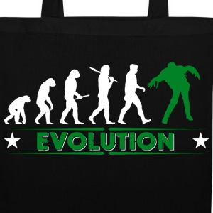 Zombie Evolution - gruen/weiss Bags & Backpacks - Tote Bag