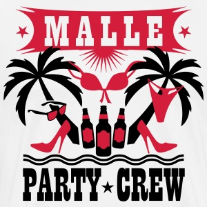 15 Malle Party Crew Drinking Team Sex Beer Bier T- - Männer Premium T-Shirt