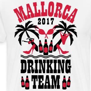 Mallorca 2017 Drinking Team Palmen Beer Sex Party  - Männer Premium T-Shirt