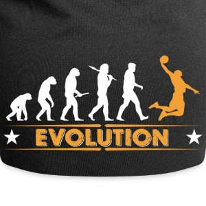Basketball Evolution - orange/weiss Caps & Hats - Jersey Beanie