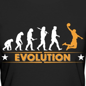 Basketball Evolution - orange/weiss T-Shirts - Frauen Bio-T-Shirt