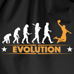 Basketball Evolution - orange/weiss Bags & Backpacks - Drawstring Bag
