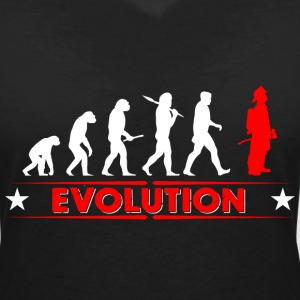 Fire evolution - red/white T-Shirts - Women's V-Neck T-Shirt