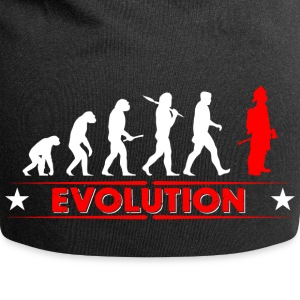 Fire evolution - red/white Caps & Hats - Jersey Beanie
