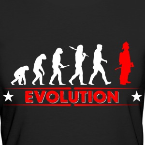 Fire evolution - red/white T-Shirts - Women's Organic T-shirt