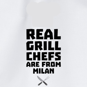 Real Grill Chefs are from Milan Sua46 Bags & Backpacks - Drawstring Bag