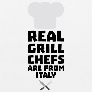Real Grill Chefs are from Italy Siy8o Bags & Backpacks - EarthPositive Tote Bag