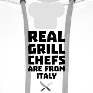 Real Grill Chefs are from Italy Siy8o Hoodies & Sweatshirts - Men's Premium Hoodie