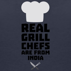 Real Grill Chefs are from India Sxu95 T-Shirts - Women's V-Neck T-Shirt