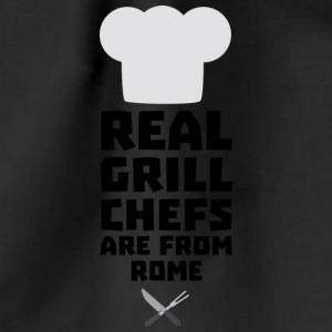 Real Grill Chefs are from Rome S05q0 Bags & Backpacks - Drawstring Bag