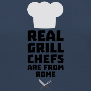 Real Grill Chefs are from Rome S05q0 Long Sleeve Shirts - Women's Premium Longsleeve Shirt