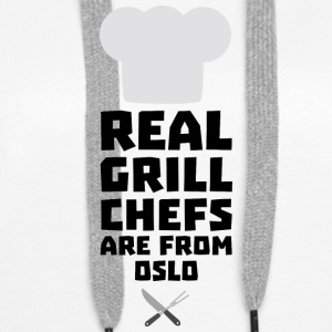 Real Grill Chefs are from Oslo Sfo1n Hoodies & Sweatshirts - Women's Premium Hoodie