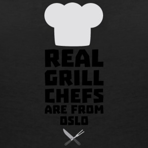 Real Grill Chefs are from Oslo Sfo1n T-Shirts - Women's V-Neck T-Shirt
