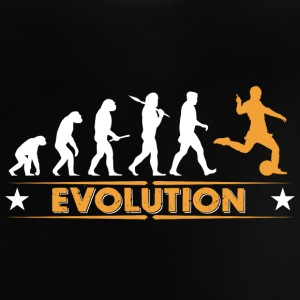 Football evolution - orange/white Baby Shirts  - Baby T-Shirt