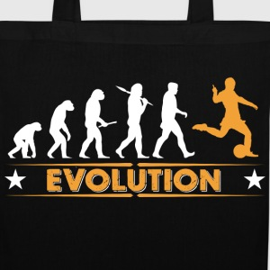 Evolution de football - orange/blanc Sacs et sacs à dos - Tote Bag