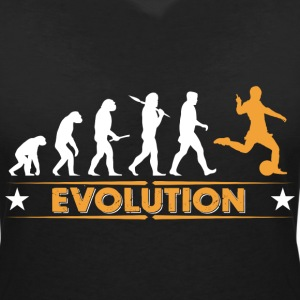 Football evolution - orange/white T-Shirts - Women's V-Neck T-Shirt