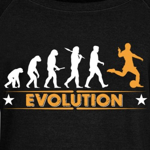 Evolution de football - orange/blanc Sweat-shirts - Pull Femme col bateau de Bella