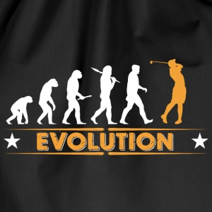 Golf Evolution - orange/weiss Bags & Backpacks - Drawstring Bag