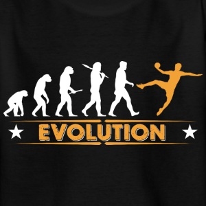 Handball Evolution - orange/weiss Camisetas - Camiseta adolescente